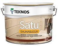 Лак влагозащитный TEKNOS SATU SAUNASUOJA для саун полуматовый 9л