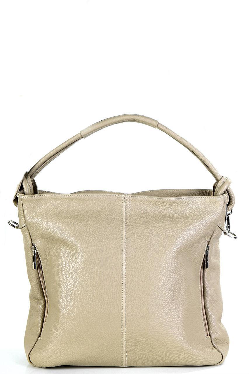 Женская кожаная сумка NEREA Diva's Bag цвет серо-коричневый