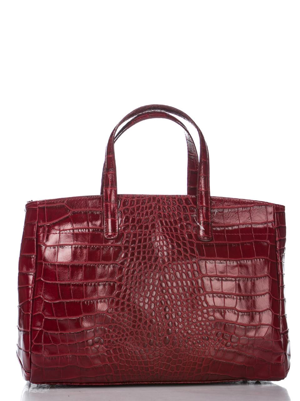 Женская кожаная сумка NATALIA Diva's Bag цвет бордовый