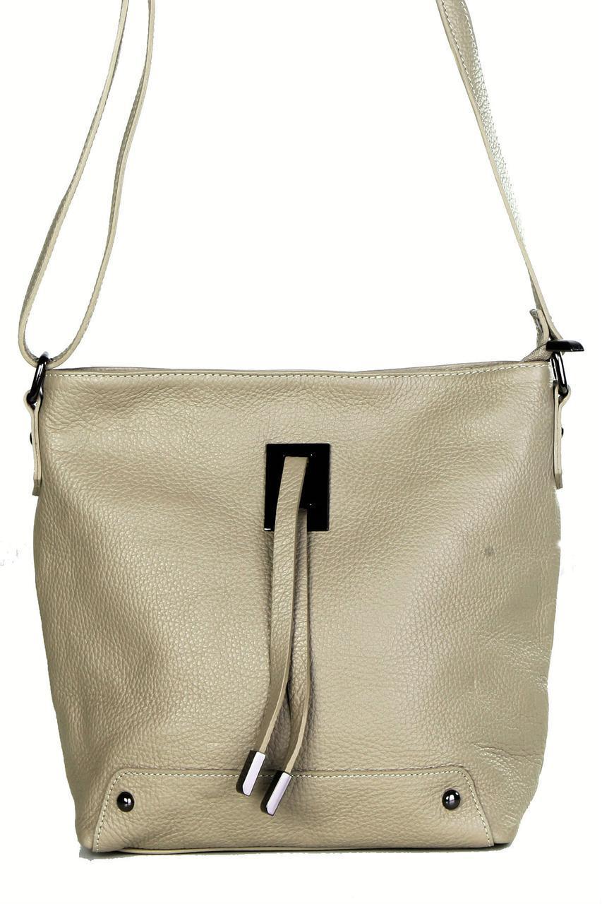 Женская кожаная сумка NARA Diva's Bag цвет серо-коричневый