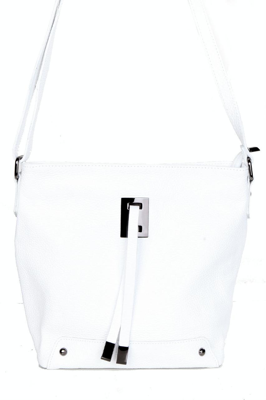 Женская кожаная сумка NARA Diva's Bag цвет белый