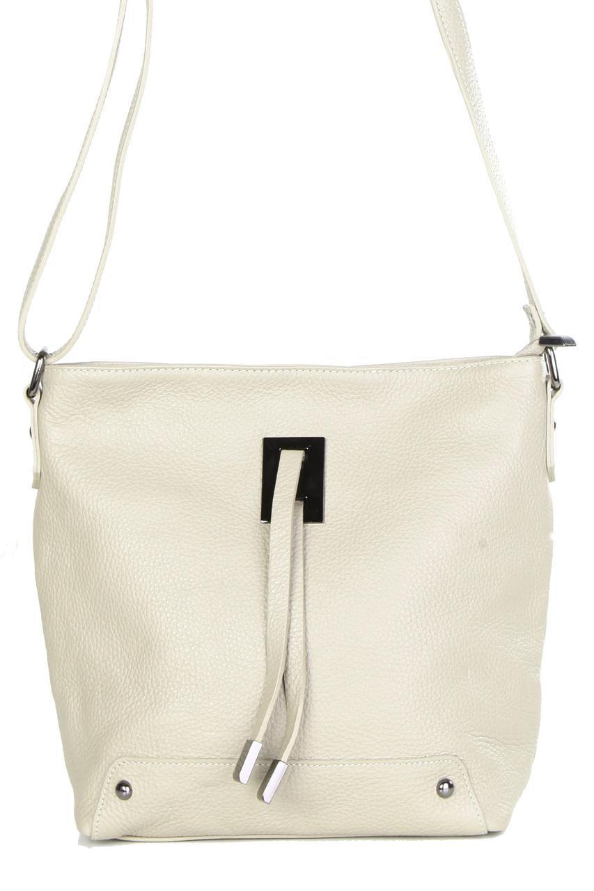 Женская кожаная сумка NARA Diva's Bag цвет бежевый