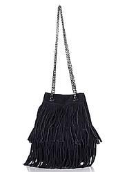 Женская кожаная сумка NAIMA Diva's Bag цвет темно-синий