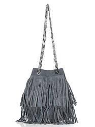 Женская кожаная сумка NAIMA Diva's Bag цвет темно-серый