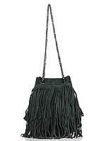 Женская кожаная сумка NAIMA Diva's Bag цвет темно-зеленый