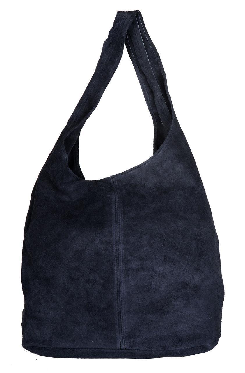 Жіноча шкіряна сумка MONICA diva's Bag колір темно-синій