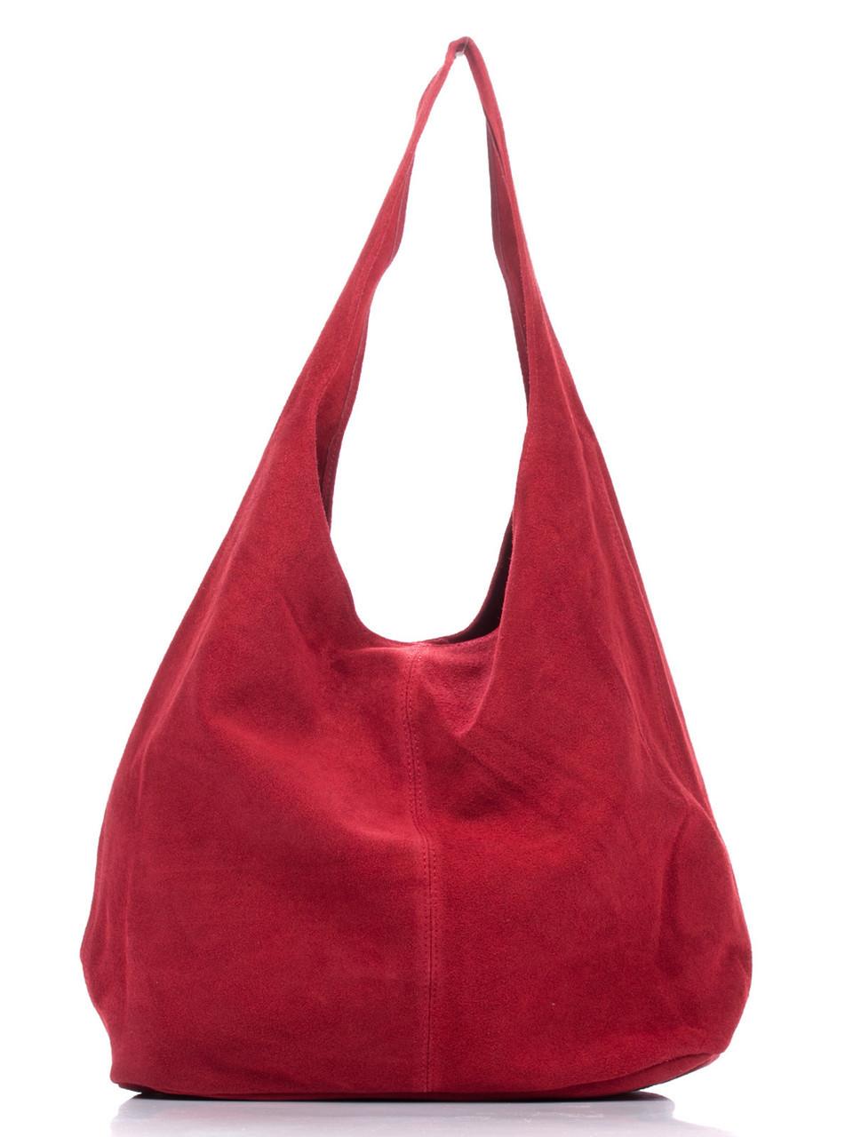 Женская кожаная сумка MONICA Diva's Bag цвет красный