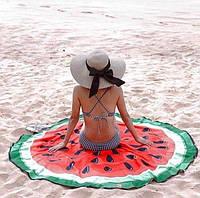 Пляжный плед в виде арбуза (покрывало арбуз)