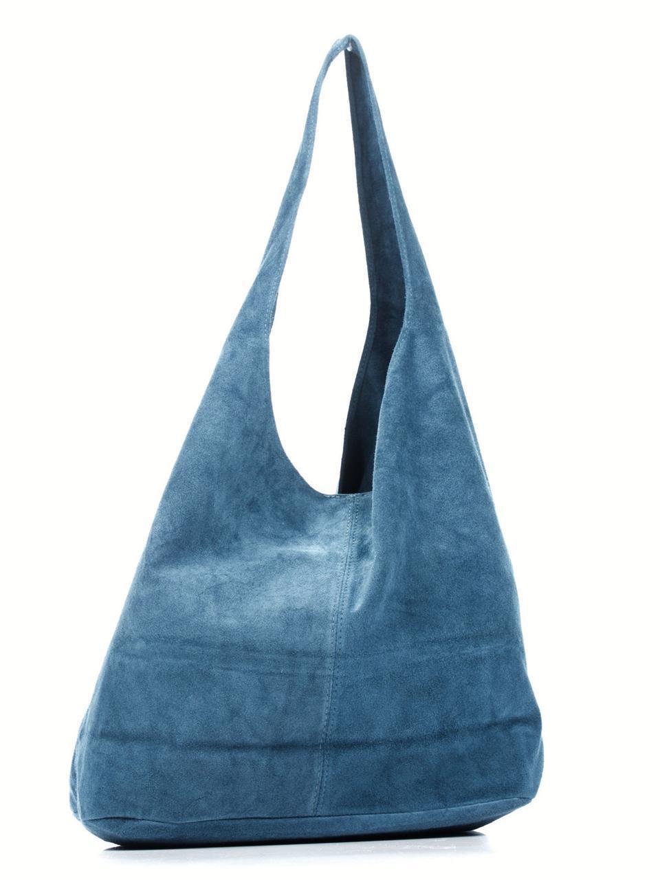 Женская кожаная сумка MONICA Diva's Bag цвет синий