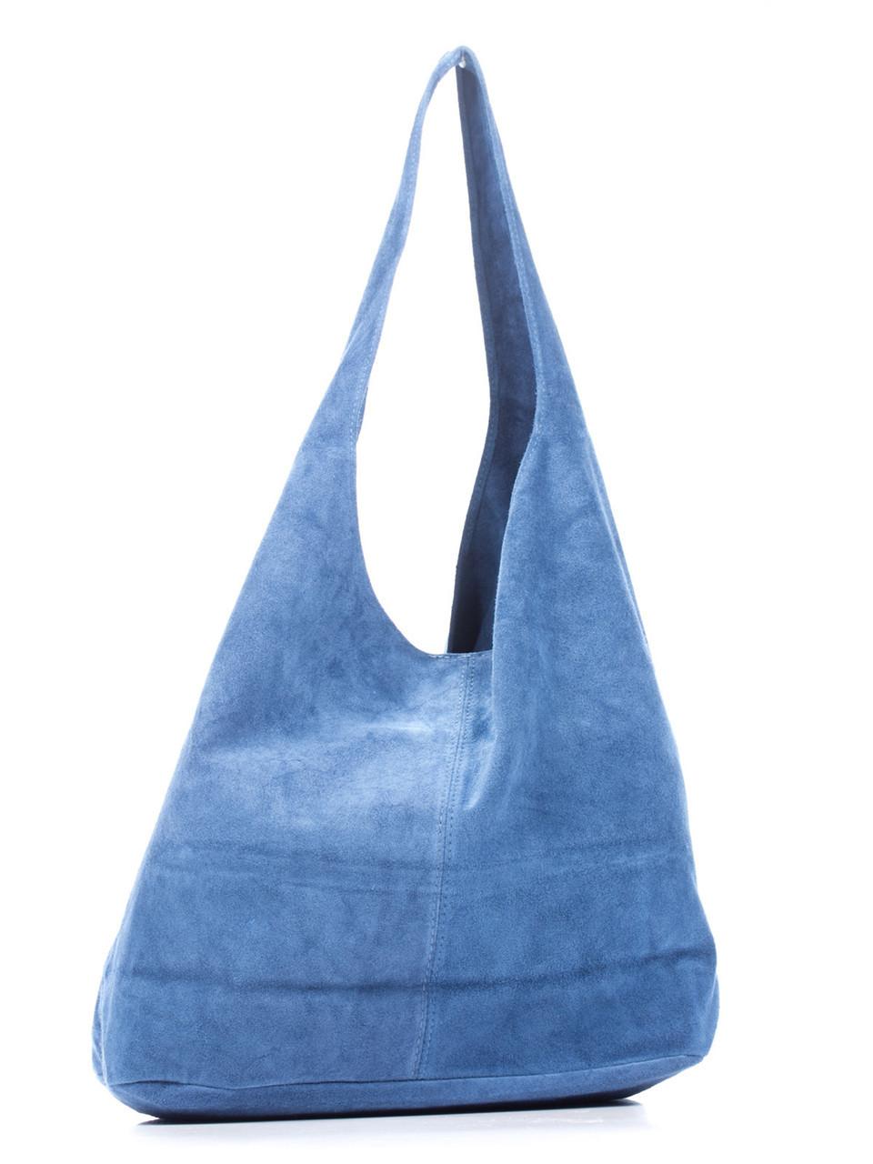 Женская кожаная сумка MONICA Diva's Bag цвет светло-синий