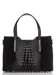 Жіноча шкіряна сумка MAURINE diva's Bag колір чорний