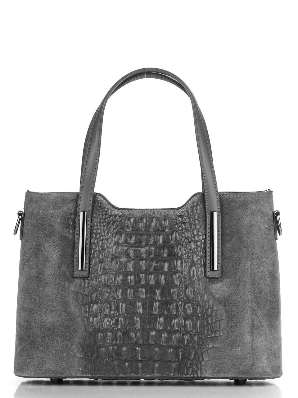 Женская кожаная сумка MAURINE Diva's Bag цвет серый