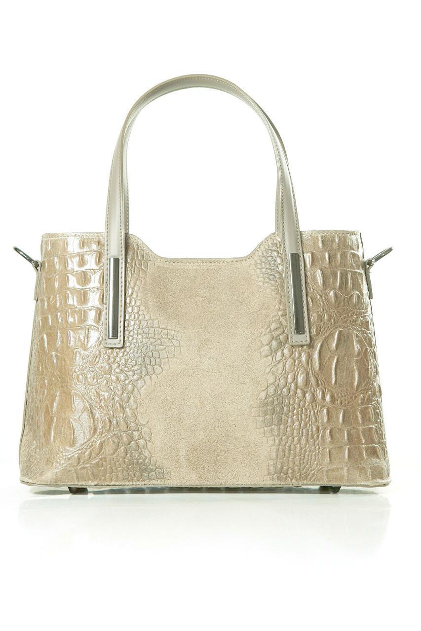 Женская кожаная сумка MAURINE Diva's Bag цвет серо-коричневый