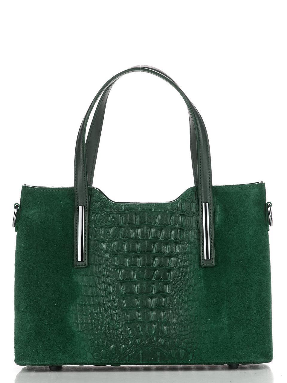 Женская кожаная сумка MAURINE Diva's Bag цвет зеленый