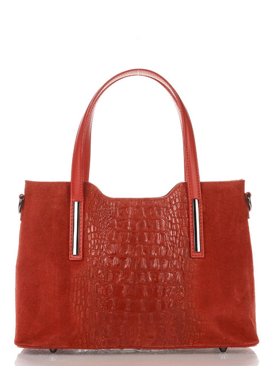 Женская кожаная сумка MAURINE Diva's Bag цвет красный