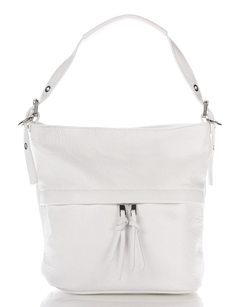 Женская кожаная сумка MAYA Diva's Bag цвет белый