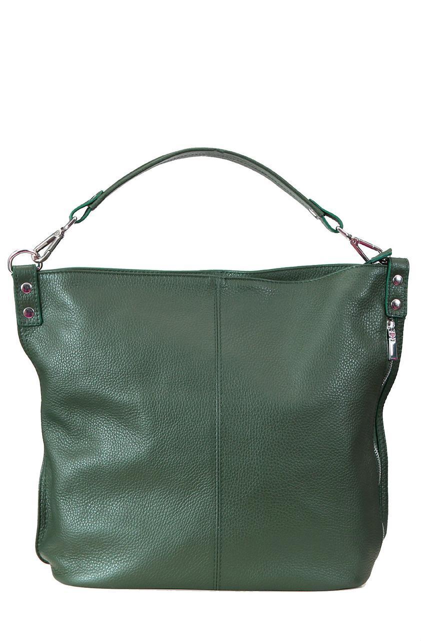 Женская кожаная сумка LUDMILLA Diva's Bag цвет темно-зеленый