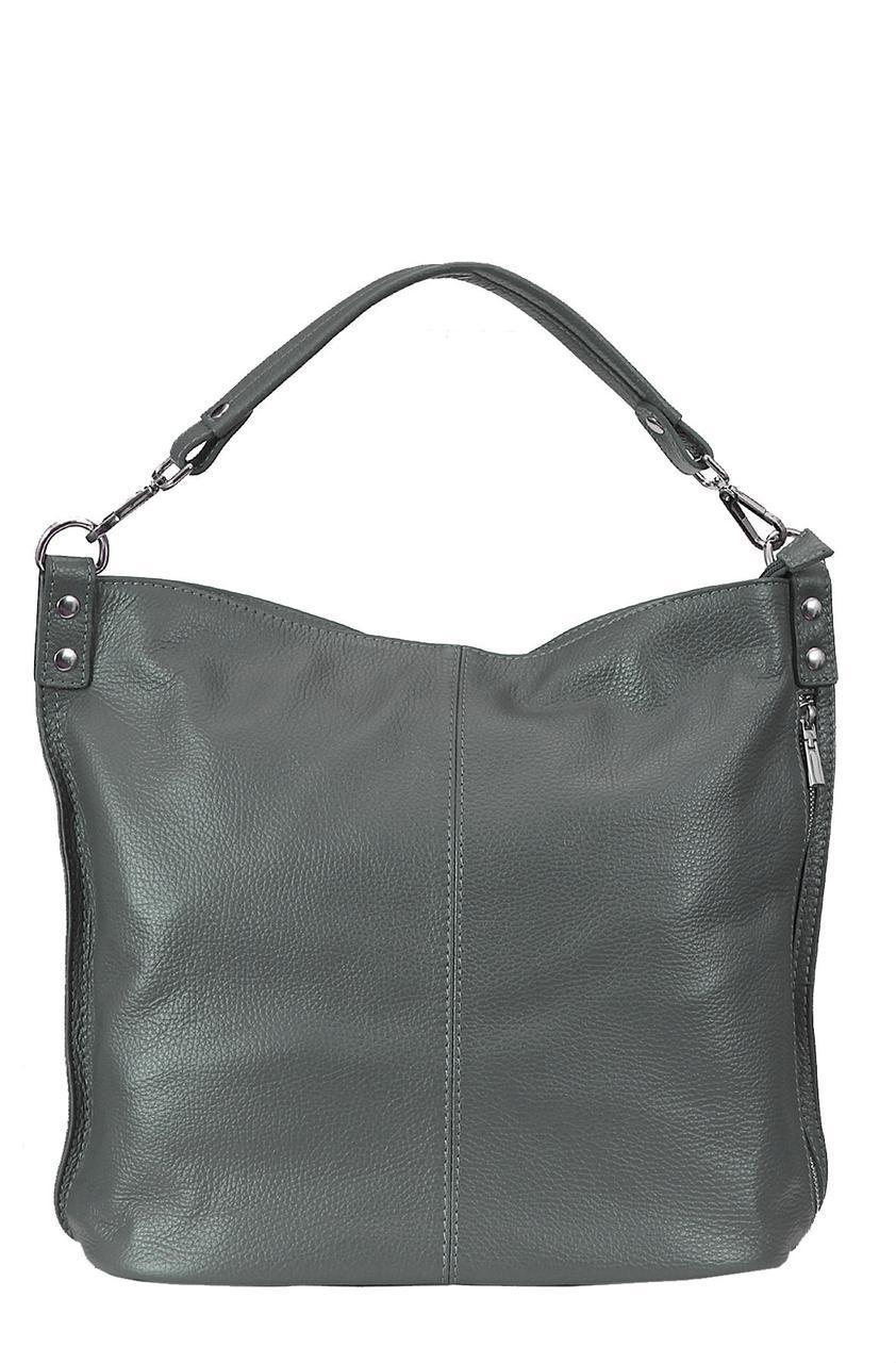 Женская кожаная сумка LUDMILLA Diva's Bag цвет темно-серый