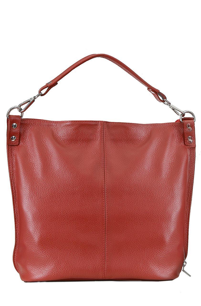 Женская кожаная сумка LUDMILLA Diva's Bag цвет красный