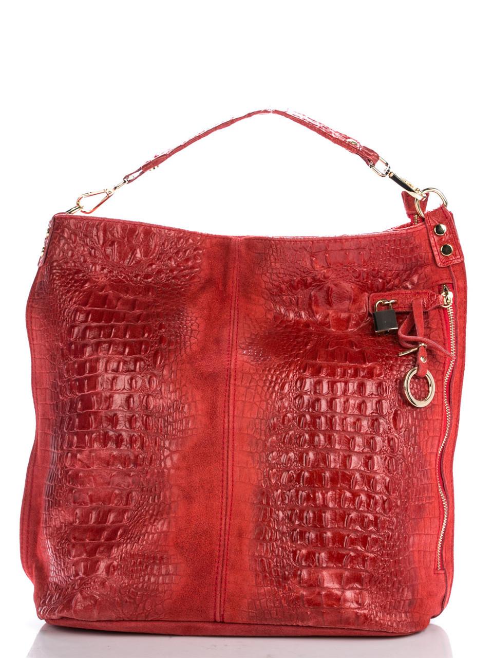 Женская кожаная сумка LUISA Diva's Bag цвет красный