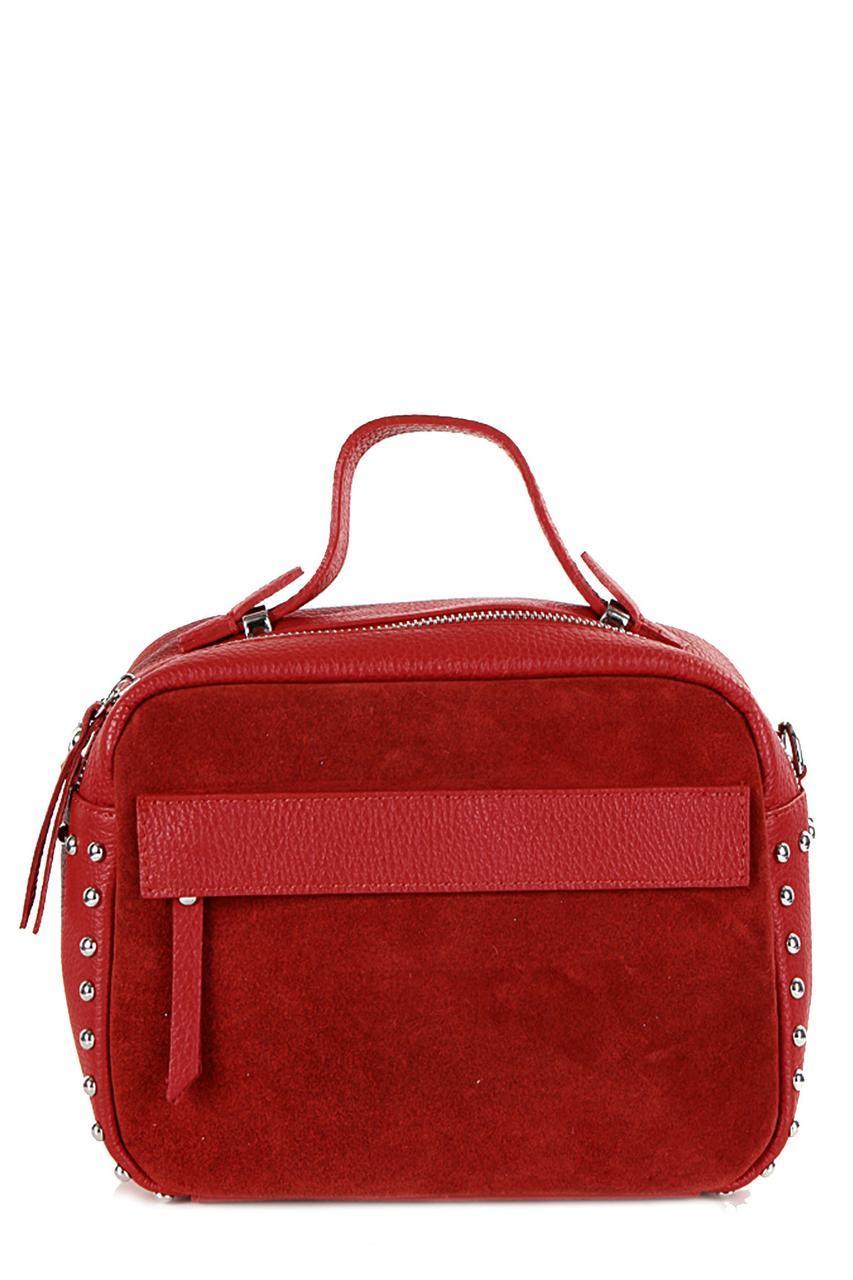Женская кожаная сумка LINDA Diva's Bag цвет красный