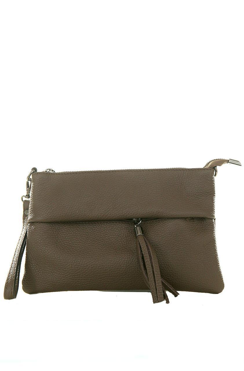 Женская кожаная сумка LIVIANA Diva's Bag цвет коричневый