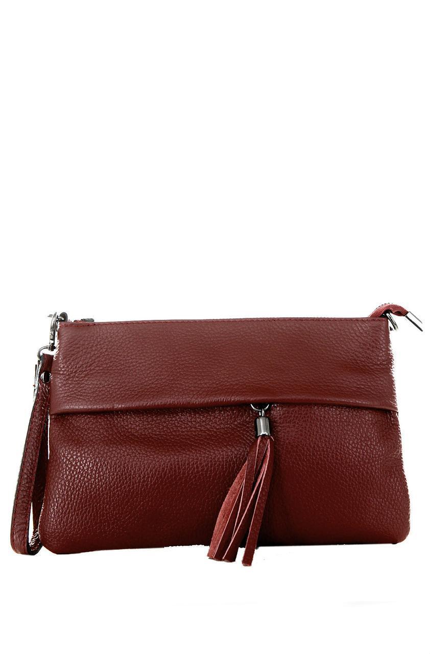 Женская кожаная сумка LIVIANA Diva's Bag цвет бордовый