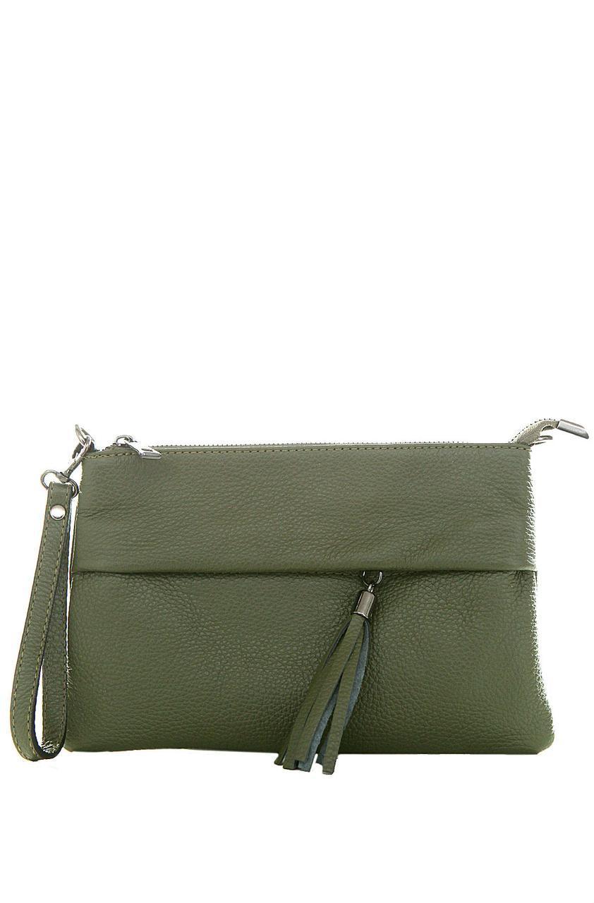 Женская кожаная сумка LIVIANA Diva's Bag цвет оливковый