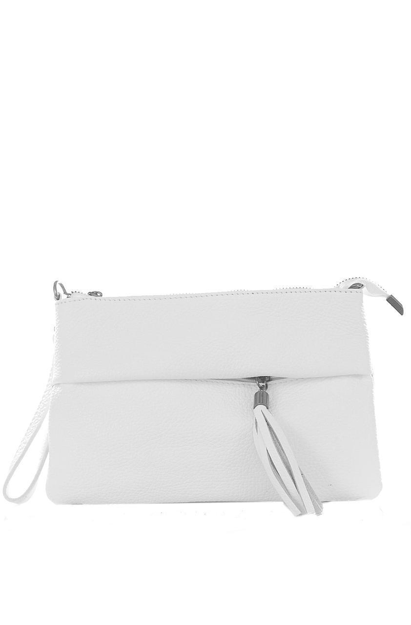 Женская кожаная сумка LIVIANA Diva's Bag цвет белый