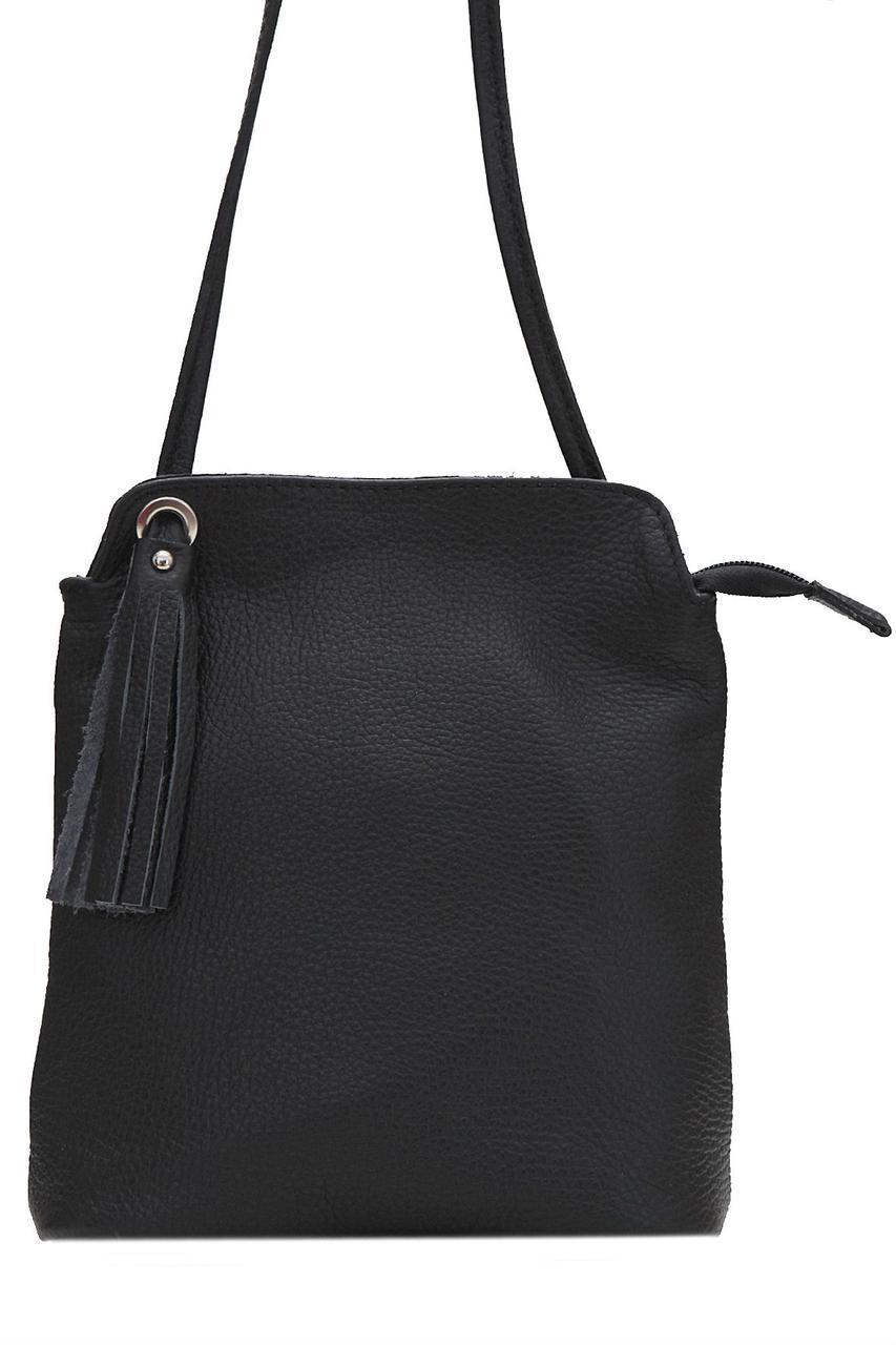 Женская кожаная сумка LEIA Diva's Bag цвет черный