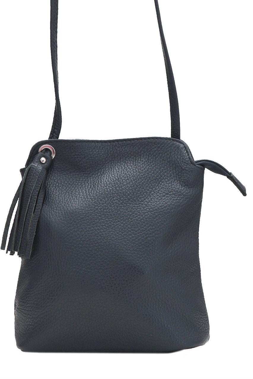 Женская кожаная сумка LEIA Diva's Bag цвет темно-синий