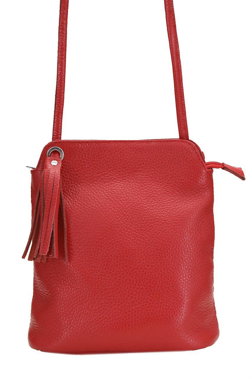 Жіноча шкіряна сумка ЧИТАТИ diva's Bag колір червоний