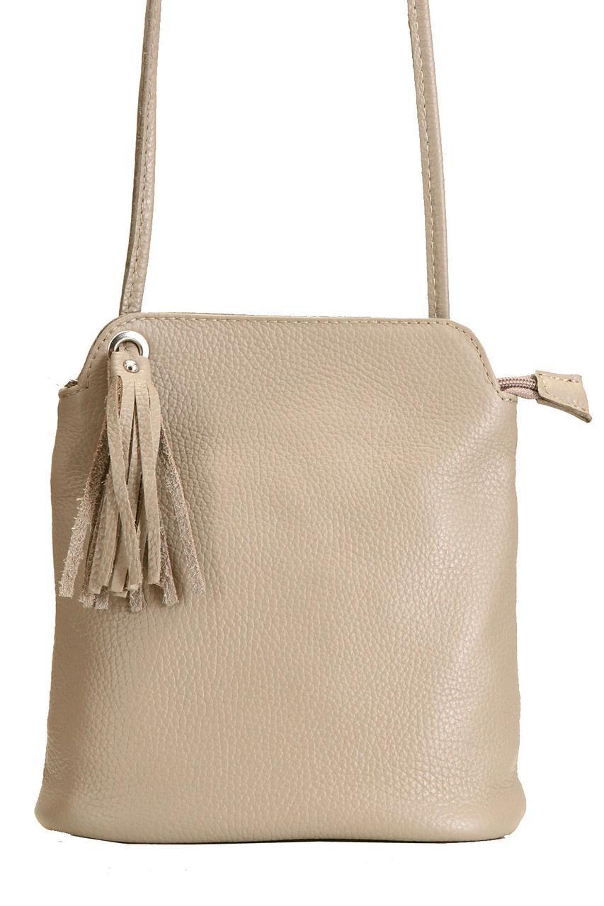Жіноча шкіряна сумка ЧИТАТИ diva's Bag колір пудра