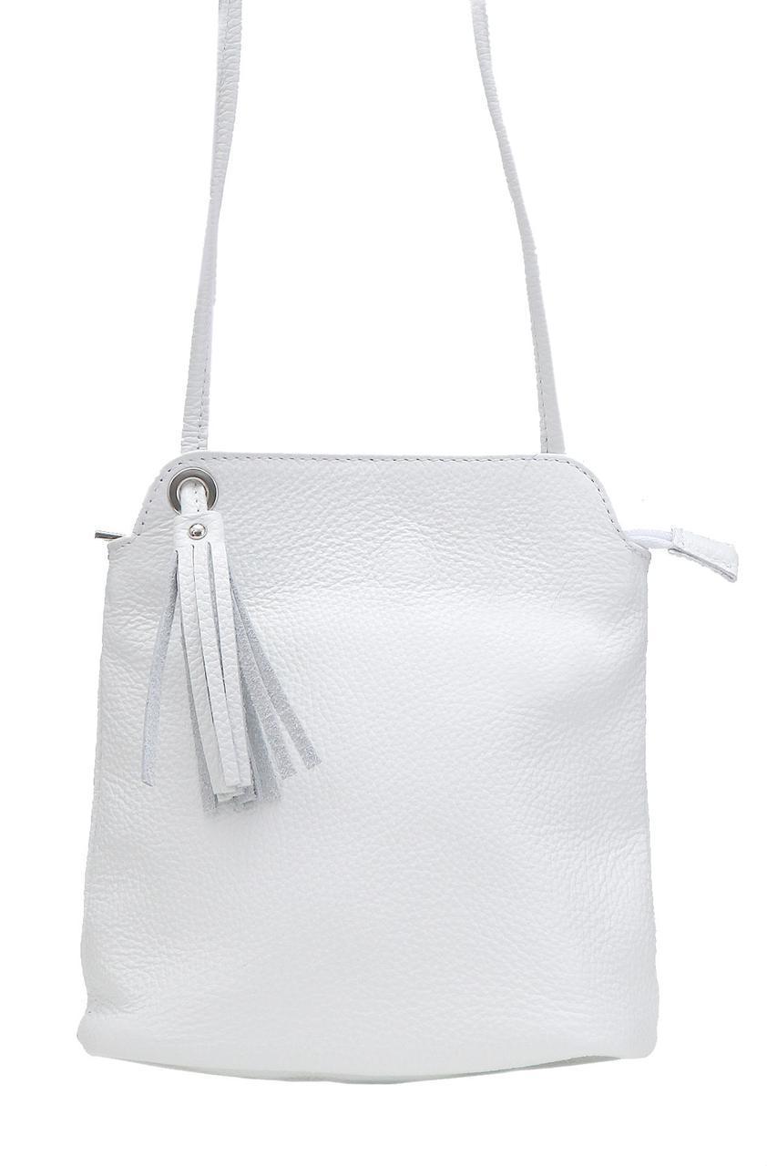 Женская кожаная сумка LEIA Diva's Bag цвет белый