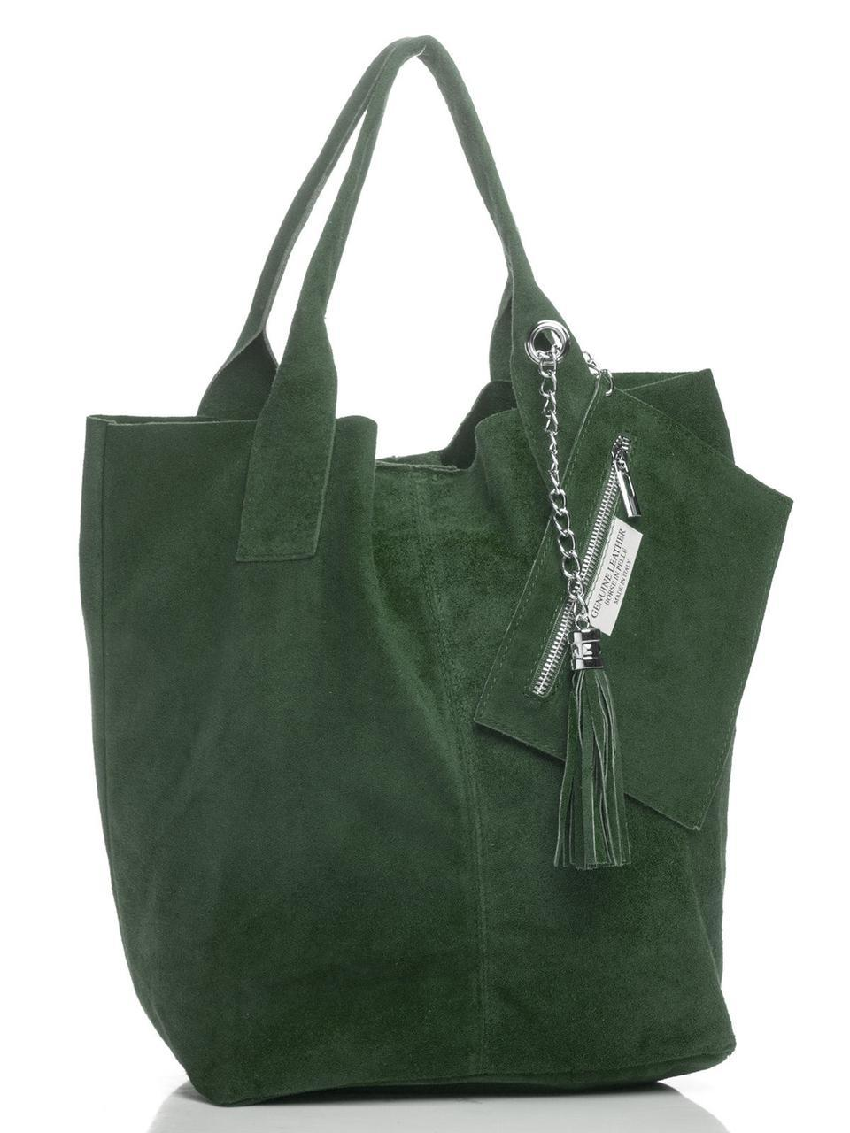Cумка-шопер ARIANNA женская Diva's Bag темно-зеленая 27 см х 36 см х 18 см