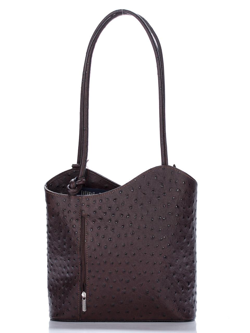 Женская кожаная сумка PATTY Diva's Bag цвет темно-коричневый