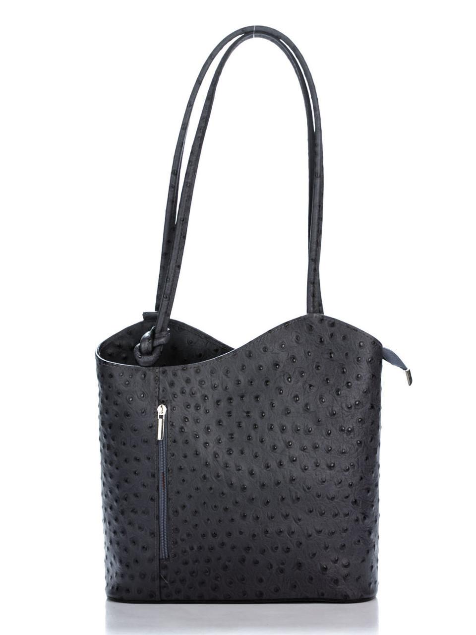 Женская кожаная сумка PATTY Diva's Bag цвет темно-серый
