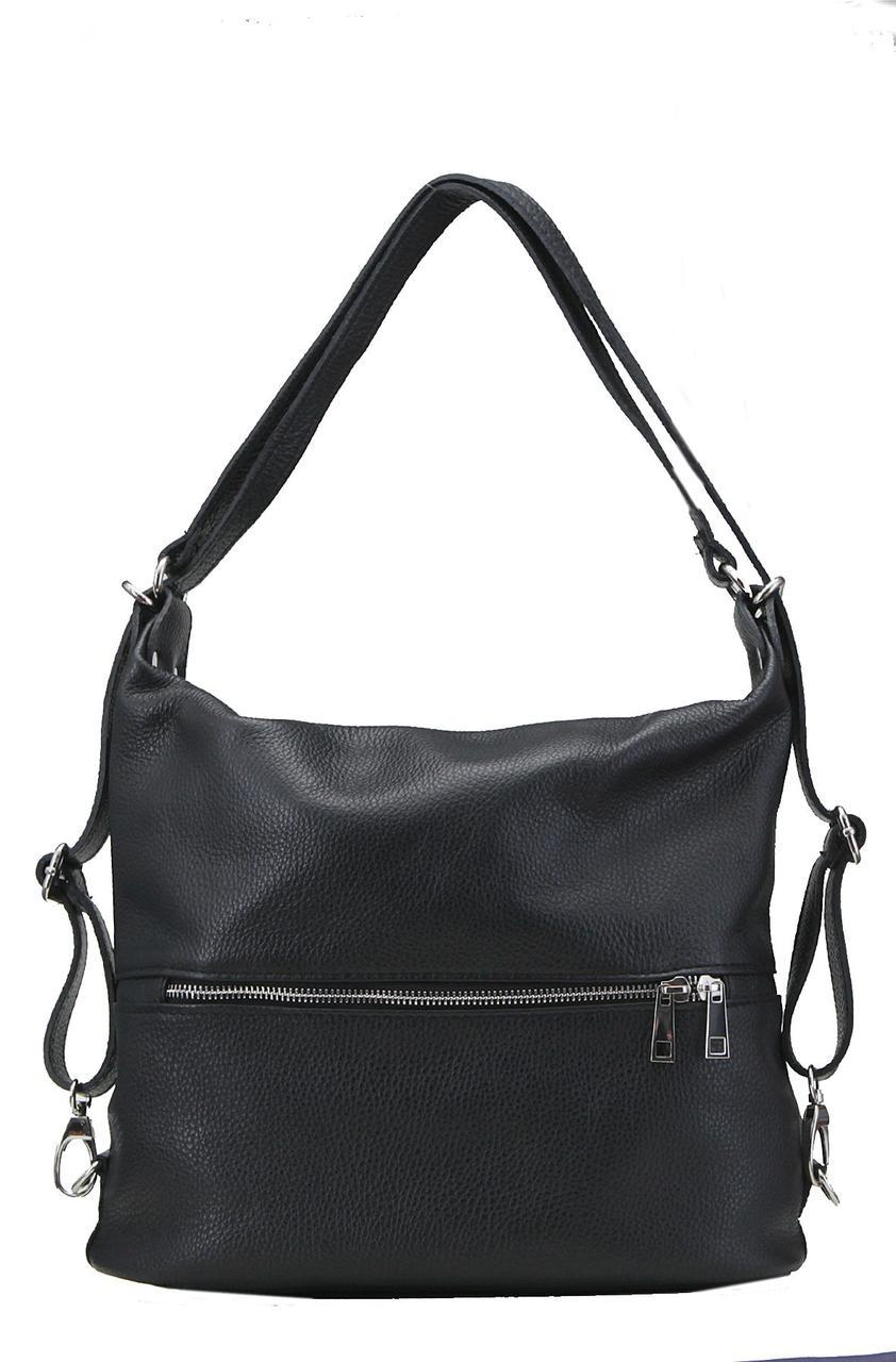 Женская кожаная сумка LENZA Diva's Bag цвет черный