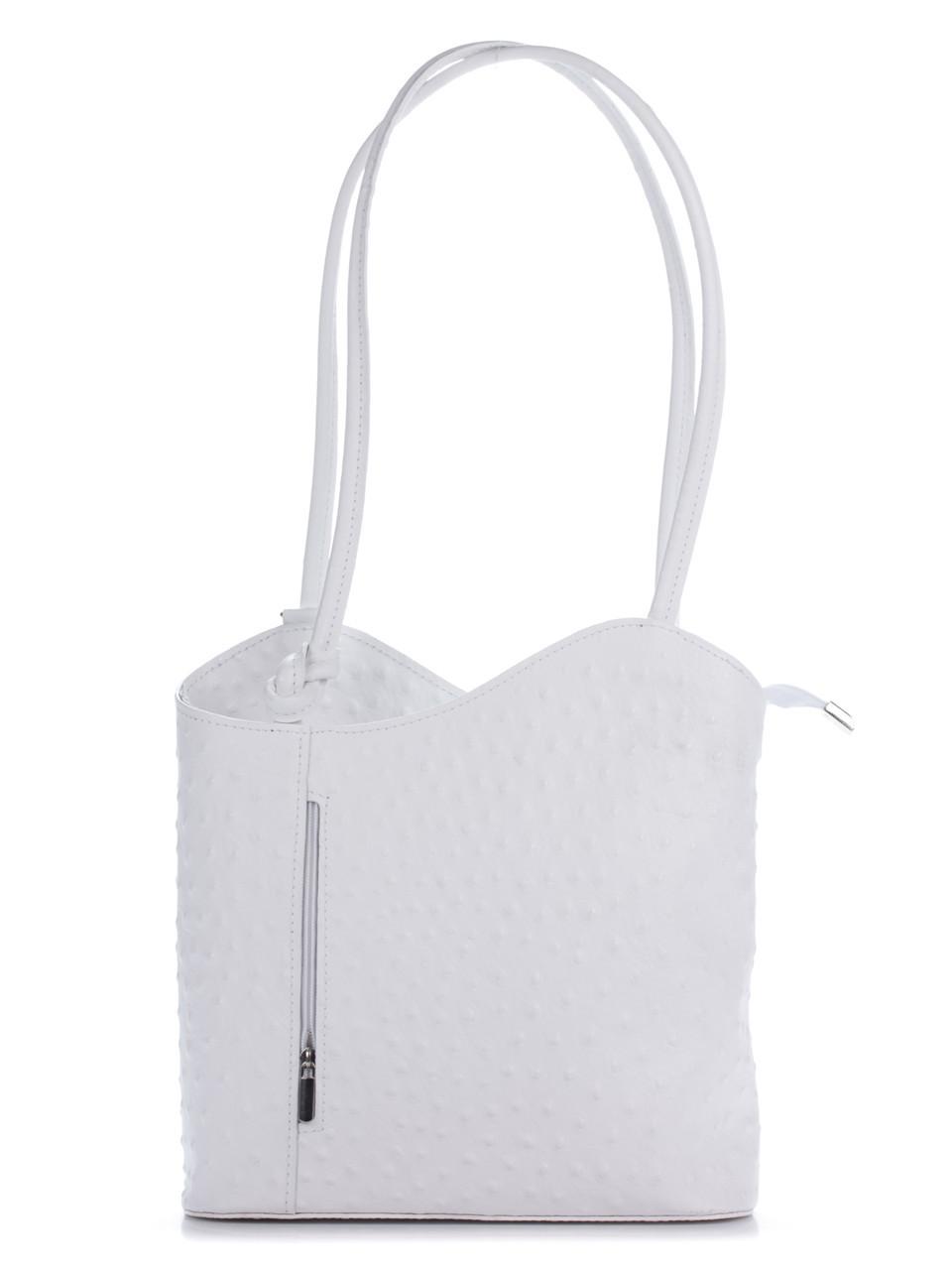 Женская кожаная сумка PATTY Diva's Bag цвет белый