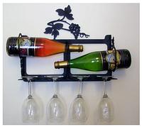 Подставка-полка  для вина настенная - 201.
