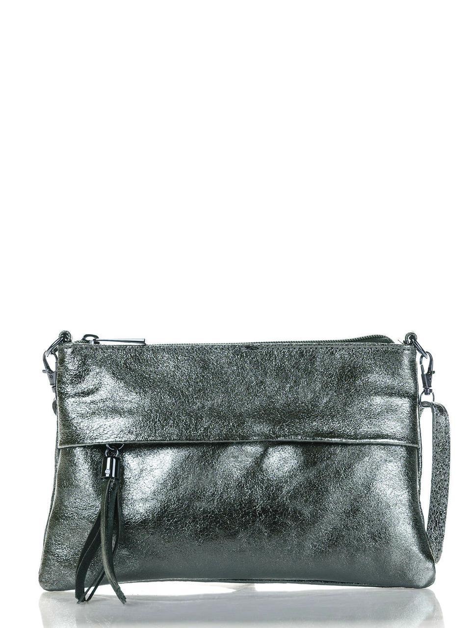 Женская кожаная сумка LELIA Diva's Bag цвет стальной