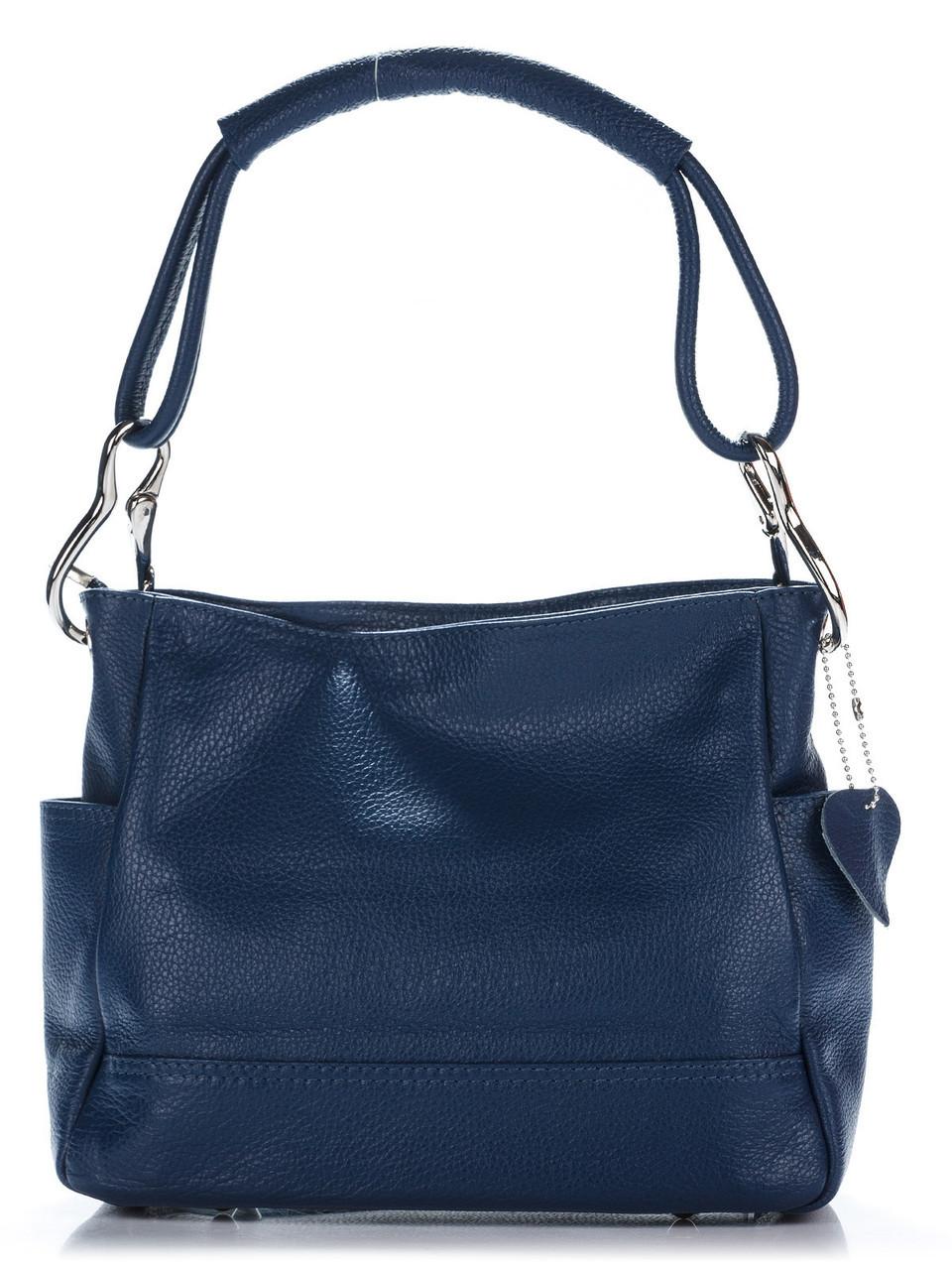 Женская кожаная сумка SHEILA Diva's Bag цвет темно-синий