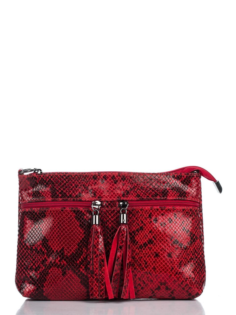 Женская кожаная сумка LEA Diva's Bag цвет красный