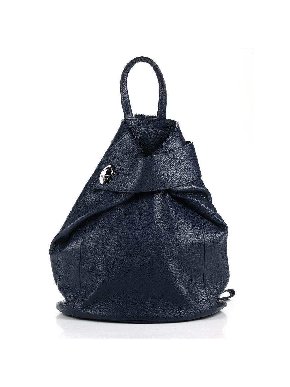 Женский кожаный рюкзак LATISHA Diva's Bag цвет синий