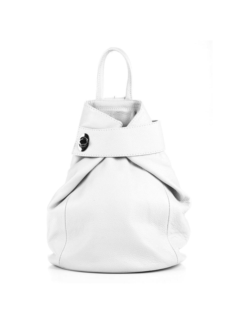 Женский кожаный рюкзак LATISHA Diva's Bag цвет белый