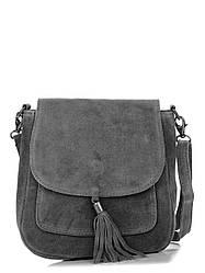 Женская кожаная сумка LANIRA Diva's Bag цвет темно-серый