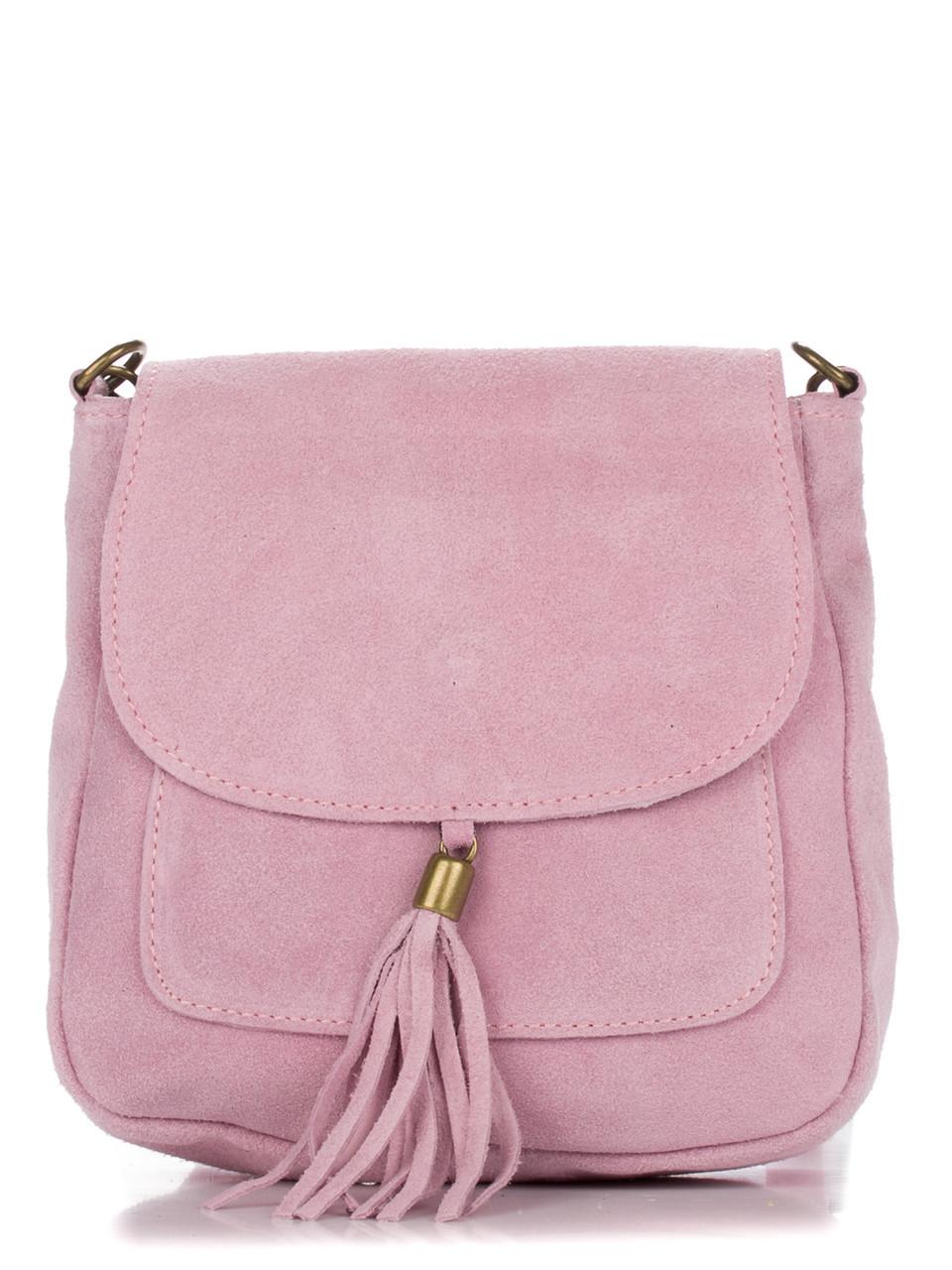 Женская кожаная сумка LANIRA Diva's Bag цвет розовый