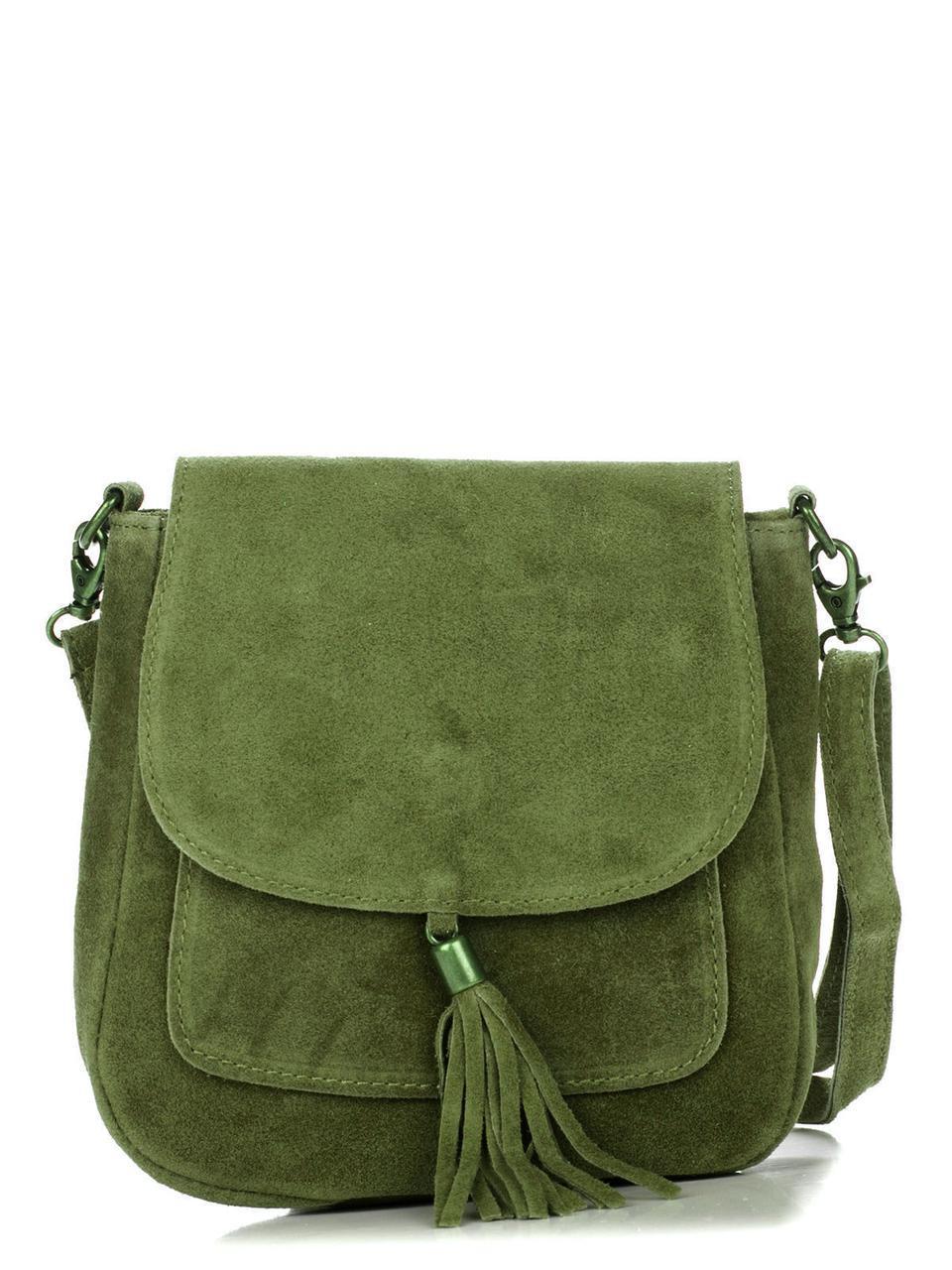 Женская кожаная сумка LANIRA Diva's Bag цвет зеленый