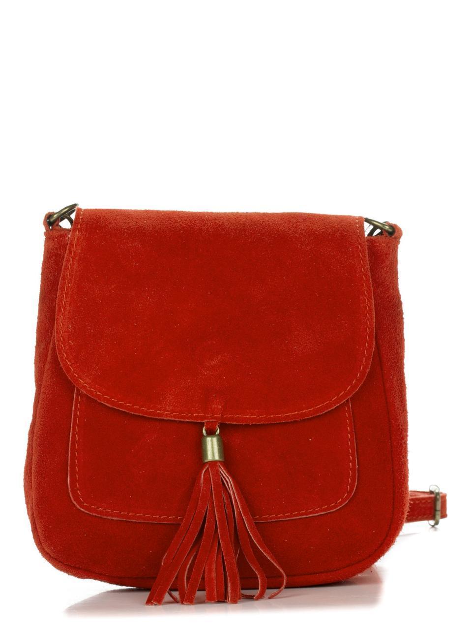 Женская кожаная сумка LANIRA Diva's Bag цвет красный