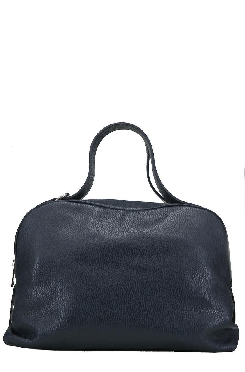 Женская кожаная сумка LALIE Diva's Bag цвет темно-синий